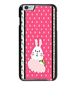 PrintDhaba Bunny D-3821 Back Case Cover for APPLE IPHONE 6 PLUS (Multi-Coloured)