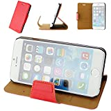 aLLreli iPhone 6 Leather Wallet Case - aLLreli [Stand Feature] Apple iPhone 6 Case Wallet [Red] Slim Leather Wallet Case Folio [Premium Leather Front Protective Cover] [Tough Hard Back Case] [Magnetic Closure] for Apple iPhone 6 (4.7