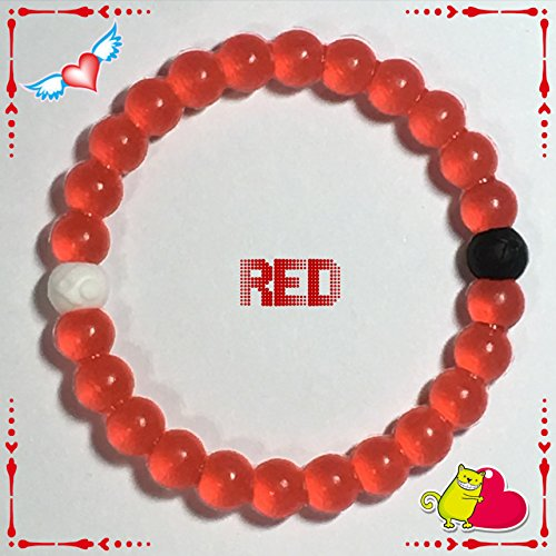 "Best Price Craze Bands High Quality Silicone Beaded Bracelet S M L Xl (L- 7"" (17.7cm), Red)"