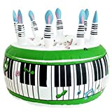 Henbrandt Inflatable Keyboard Design Party Cake (One Size) (White/Green)