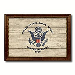 US Coast Guard Military Textured Flag Art Office Wall Home Decor Bedroom Livingroom Masteroom Gameroom ManCave Bar Housewarming Gift Idea