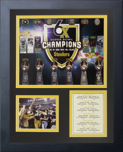 "Pittsburgh Steelers Superbowl Championships 11"" x 14"" Framed Photo Collage by Legends Never Die, Inc. at Amazon.com"