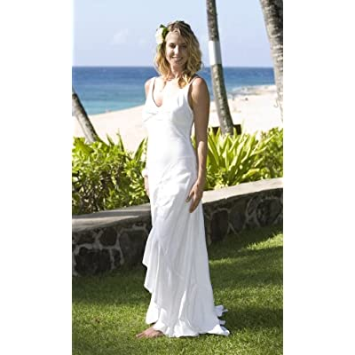 Queen Keopuolani Hawaiian Wedding Dress - Laua`e Collection Beach Wedding Dress