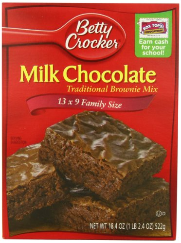 Betty Crocker Traditional Milk Chocolate, Brownie Mix, 18.4-Ounce (Pack of 6) at Amazon.com