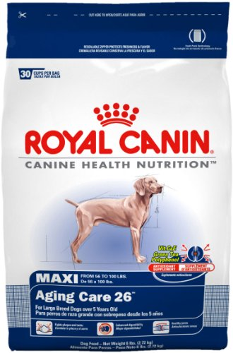 Royal Canin Dry Dog Food, Maxi Aging Care 25 Formula, 30-Pound Bag