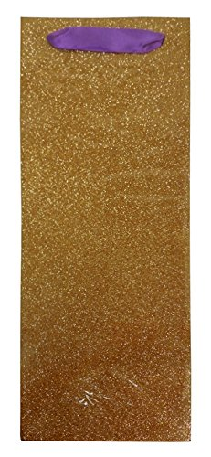 The Gift Wrap Company 6 Count Bottle Gift Bags, Glitz And Glam Alamar front-446627