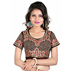 Renishafashion Women's Exclusive Self Designer Blouse Collection(Brown)