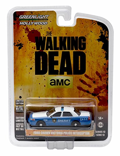 Rick & Shane's FORD CROWN VICTORIA POLICE INTERCEPTOR (Linden County, Georgia Sheriff) from THE WALKING DEAD * GL Hollywood Series 13 * 2016 Greenlight Collectibles 1:64 Scale Die Cast Vehicle
