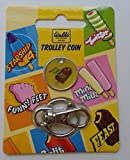 Walls CLASSICS ice cream retro trolley coin token keyring.FEAST