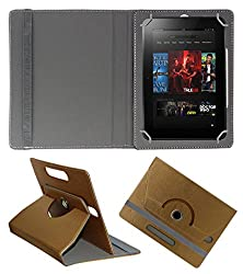 Acm Designer Rotating 360° Leather Flip Case For Amazon Kindle Fire Hd 8.9 Tablet Stand Premium Cover Golden