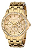 GUESS Women's U0147L2 Polished Glamour Gold-Tone Crystal Watch