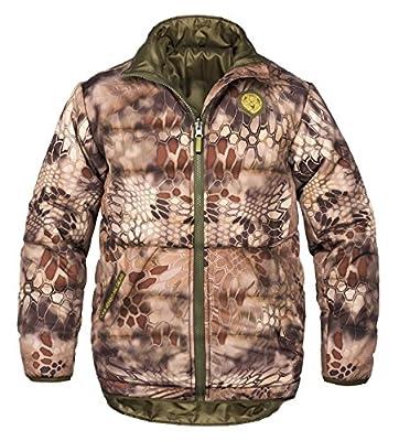 KODA Adventure Gear, Warm Polyester Kryptek Highlander Camo, Flexible Kids Camp One Base Jacket Coat