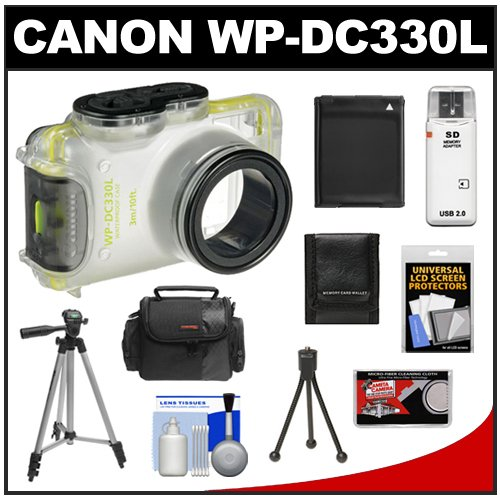 51qWwOwNsZL Canon PowerShot PSC 4000 Soft Leather Carrying Case + (4) Batteries & Charger + 8GB Card + Tripod + Accessory Kit for SX120 IS & SX130 IS Digital Cameras