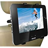 DBTech Universal Car Headrest mount Holder cradle for DVD Player's, Tablet's, E-reader's. - Include 5 ft. 3.5mm AUX Cable