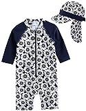 [Vaenait Baby]Baby Dimanche L+Flap cap S 0-24ヶ月UVカット ラッシュガードベビー 子供女の子長袖ワンピース水着セット ランキングお取り寄せ