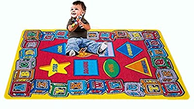 Abc Shapes Kids Rugs Alphabet Learning Play Carpet