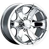 Pacer Warrior 17x8 Polished Wheel / Rim 5x5.5 with a 10mm Offset and a 108.00 Hub Bore. Partnumber 187P-7885
