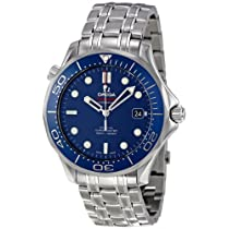 Omega Men's O21230412003001 Seamaster Analog Display Automatic Self Wind Silver Watch