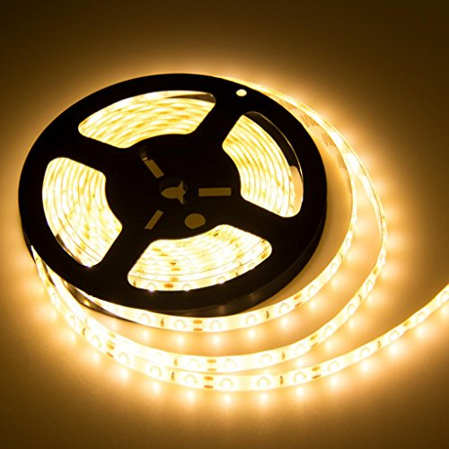 Aenmil® 5M 5Meter/Roll Super Bright Waterproof Smd 5630 300 Leds Flexible Warm White Led Lighting Strip Suitable For Hotel, Ktv, Bar, Game Room And Other Leisure (Warm White)