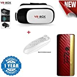 Google Pixel Compatible Certified Newest 3D Vr Box, With Bluetooth Controller, Virtual Reality Headset Version 2.0 . 3D Glasses With Power Bank 13000 Mah With Led Indicators (One Year Warranty)