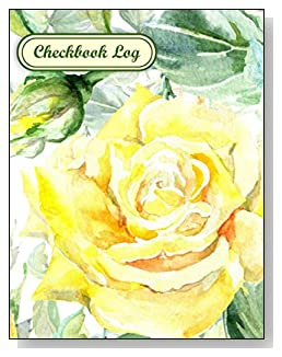 Yellow Rose Checkbook Log - A beautiful book with wide lines to easily track all your checking account activity without having to write tiny and cram everything into those little check register booklets.