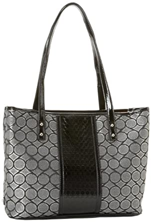 Nine West Can't Stop MD Tote,Black Grey,One Size