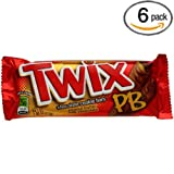 Twix Crispy Creamy Crunchy Peanut Butter Cookie Bars - 6 Pack