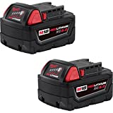 Milwaukee 48-11-1852 M18 REDLITHIUM XC 5.0 Ah Extended Capacity Battery (2 pack) (Color: red)