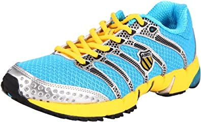 K-Swiss Men's K-Ona R Running Shoe, Neon Blue/Silver/Yellow, 10 M