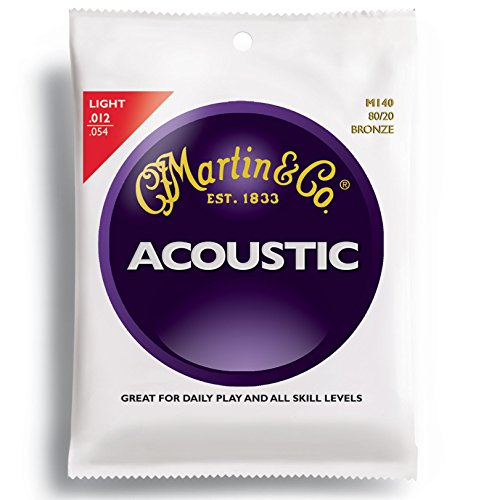 Martin M140 Bronze Acoustic Guitar Strings, Light (Cf Martin Strings compare prices)
