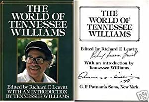 Tennessee Williams The World Of Signed Autograph Large Hardback Book - Autographed... by Sports+Memorabilia