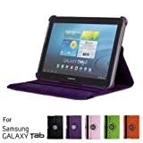 Purple Samsung Galaxy Tab 2 10.1 Case/Cover with 36