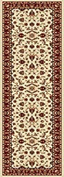 Universal Rugs Transitional Oriental 2 ft. 3 in. x 7 ft. 3 in. Runner , Beige