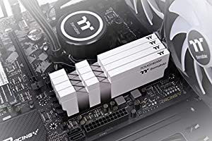 Thermaltake TOUGHRAM White DDR4 4400MHz C19 16GB (8GB x 2) Memory Intel XMP 2.0 Ready with Real-Time Performance Monitoring Software R020D408GX2-4400C19A (Color: WHITE, Tamaño: 4400MHz)