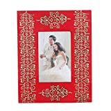 Home And Bazaar Ethnic Rajasthani Handpainted Photo Frame - Red