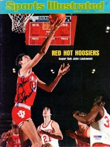 John Laskowski Autographed Signed SI Magazine Indiana Hoosiers #X65015 - PSA/DNA Certified - Autographed College Magazines