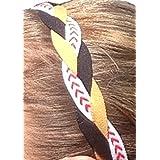 It S Ridic No Slip Grip Non-Slip Sports Athletic Nylon Triple Braided Sports Headband Black | Gold | White With...