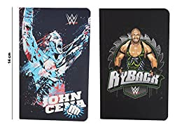 WWE Top Superstar John Cena & Ryback Combo of 2-Piece A6 Note Book / Diary, Soft Cover, Multi Color