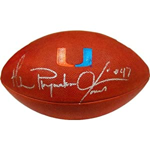 Michael Playmaker Irvin Autographed Miami Hurricanes Football (JSA) - Autographed... by Sports+Memorabilia