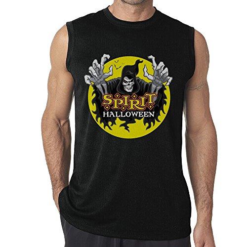 Spirit Halloween Crewneck Black Tee Shirts For Mens (Coupon Spirit Halloween)