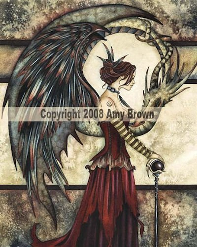 Add An Accent ~ COURT OF THE DRAGON ~ Amy Brown Mousepad - Fantasy Fairy & Dragon Mouse Pad - 85942