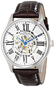 Stuhrling Original Men's 747.01 Classic Atrium Analog Display Automatic Self Wind Brown Watch