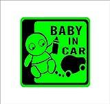 Amazon.co.jpBABY IN CAR 赤ちゃん&車 緑 カッティングステッカー ウォールステッカー ステッカー