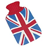 Union Jack Knitted Hot Water Bottle