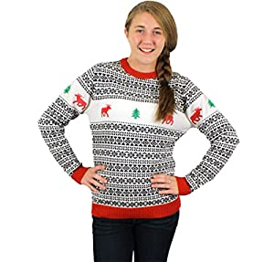 Holiday Reindeer Sweater in Antique - Children's Ugly Christmas Sweater