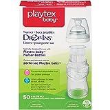 Playtex Drop-Ins BPA-Free Bottle Liners for Playtex Nurser Bottles - 4 Ounce - 50 Count