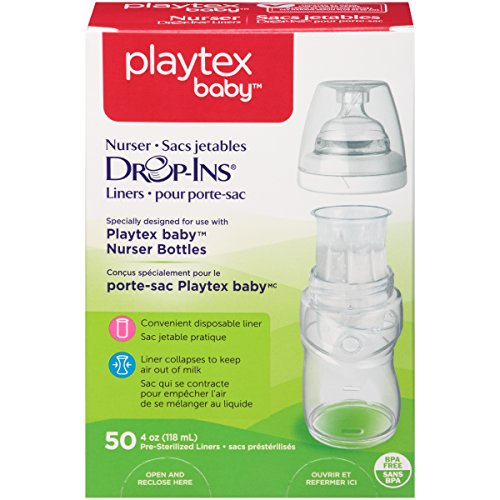 Playtex Drop-Ins BPA-Free Bottle Liners for Playtex Nurser Bottles - 4 Ounce - 50 Count (Playtex Baby Liners compare prices)