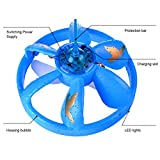 """Kids Toys """"UFO Flying Disc"""", Homure® Cool Mini Infrared Sensor Flying Saucer UFO Hand Induced Hovering and Floating Flight with LED Lights (Blue)"""