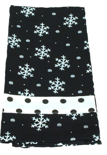 Young's Fabric Snowflake Towel, 12-Inch