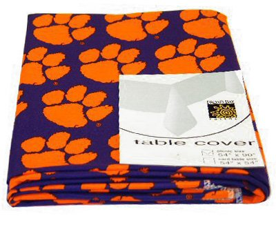 Cheap Clemson University Logo Tigers Table Cover Square 54x54 Tablecloth  Cotton With WATERPROOF LINING UNDERSIDE Review